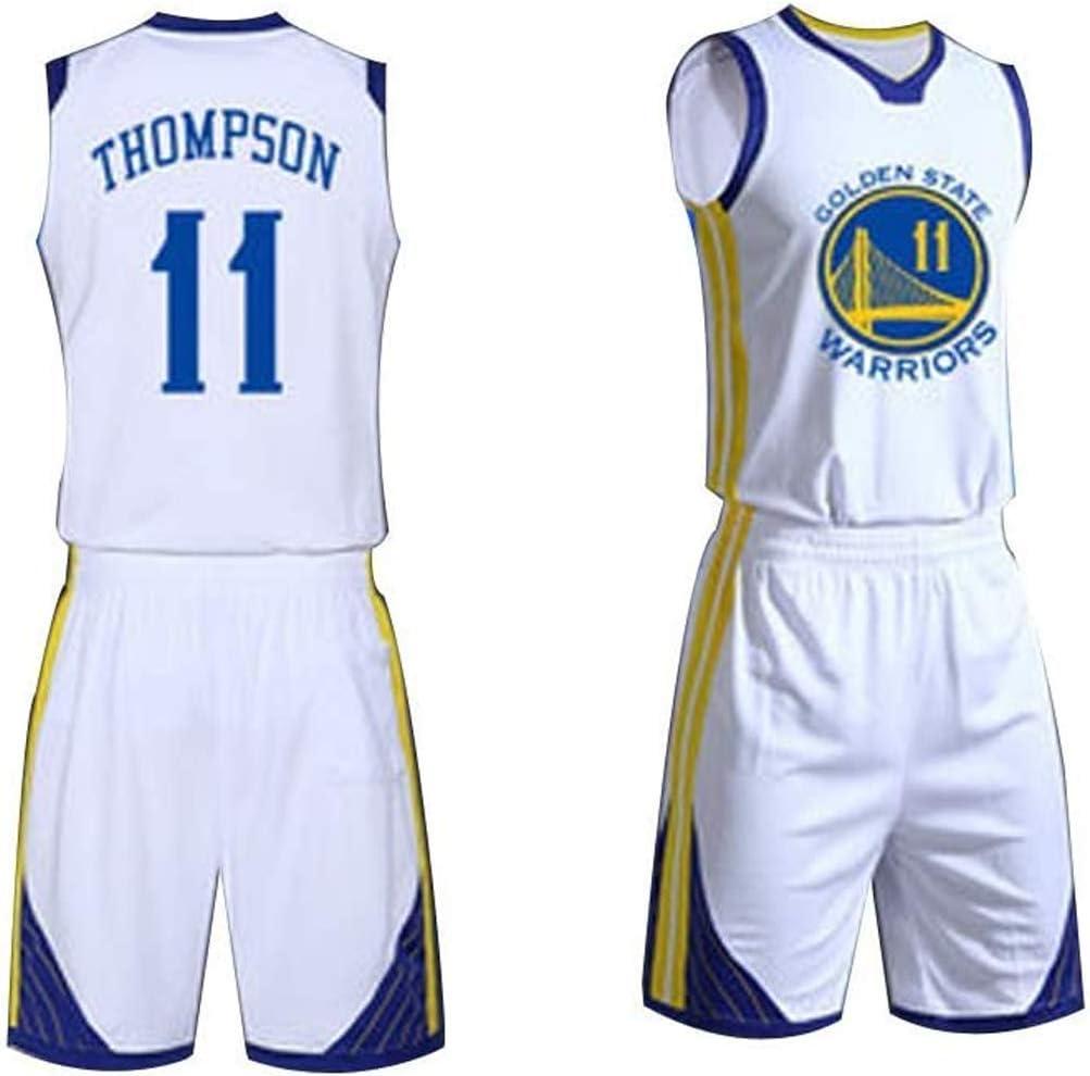 de Basket-Ball d/ét/é brod/é Chemise Gilet Shorts,XXS SHR-GCHAO Golden State Warriors # 11 Klay Thompson Basketball Masculin Maillots Set