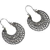 AllRight 1Pair Ethnic Hoop Earrings Vintage Drop Bohemian Earrings Jewelry