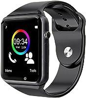 Smartwatch A1 Relógio Inteligente, Bluetooth, Gear Chip, Android iOS, Touch, SMS, Pedômetro, Câmera, Preto