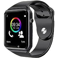 Smartwatch A1 Relógio Inteligente Bluetooth Gear Chip Android iOS Touch Faz e atende ligações SMS Pedômetro Câmera - PRETO