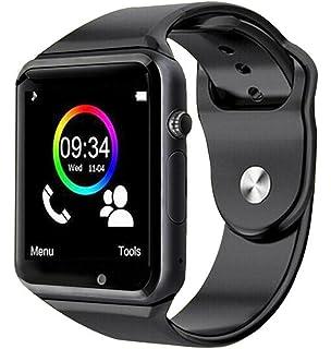 ea5459ef13e Smartwatch A1 Relógio Inteligente Bluetooth Gear Chip Android iOS Touch Faz  e atende ligações SMS Pedômetro