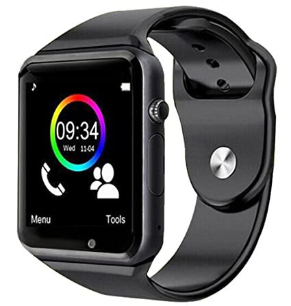 Smartwatch A1 Relogio Inteligente Bluetooth Gear Chip Android Ios Touch Sms Pedometro Camera Preto