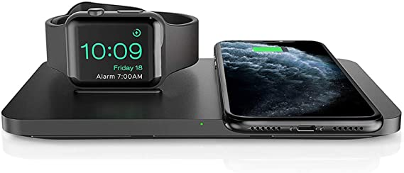 Amazon Com Wireless Charger Seneo 2 In 1 Dual Wireless Charging Pad With Iwatch Stand For Iwatch 6 5 4 3 2 7 5w Wireless Charger For Iphone 12 11 11 Pro Max Xr Xs Max Xs X 8 Airpods No Iwatch Charging Cable