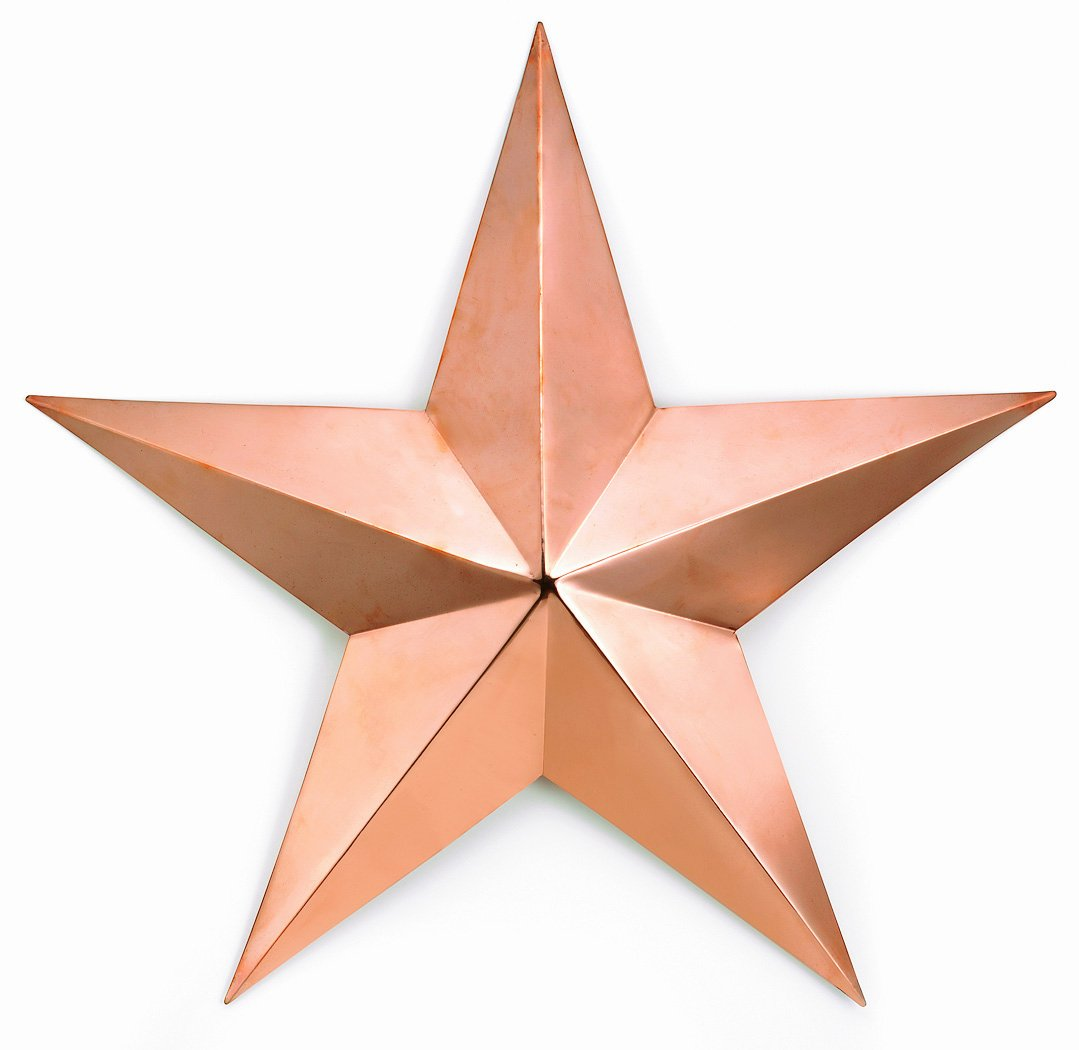 Amazon.com : Good Directions 222C Large Copper Barn Star With Copper Finish  : Wall Sculptures : Garden U0026 Outdoor