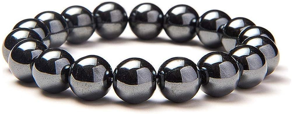 sunnyclue Semi Precious Gemstone 10mm cuentas redondas Pulsera elástica Prom partido joyería sobre 7
