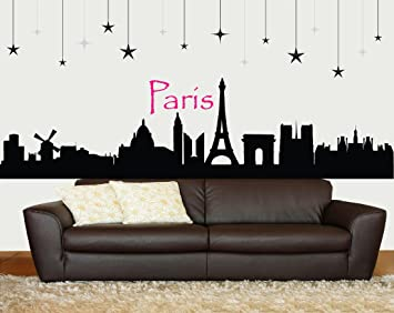 Paris Wall Decor   Paris Wall Decal   Paris Room Decor   Eiffel Tower Wall  Decal Part 80