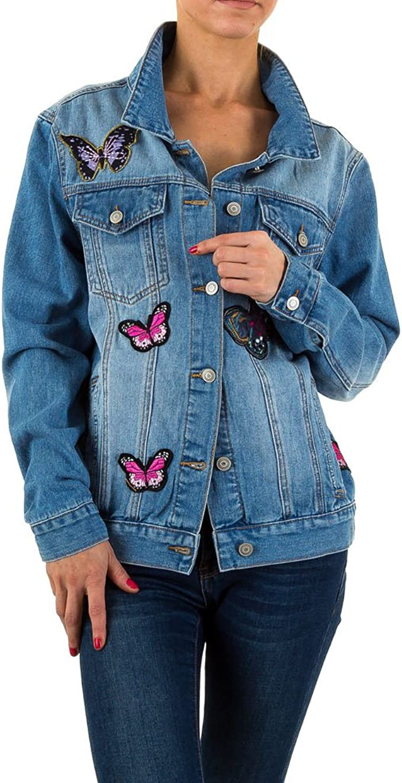 Schuhcity24 Damen Jacke Applikationen Jeansjacke