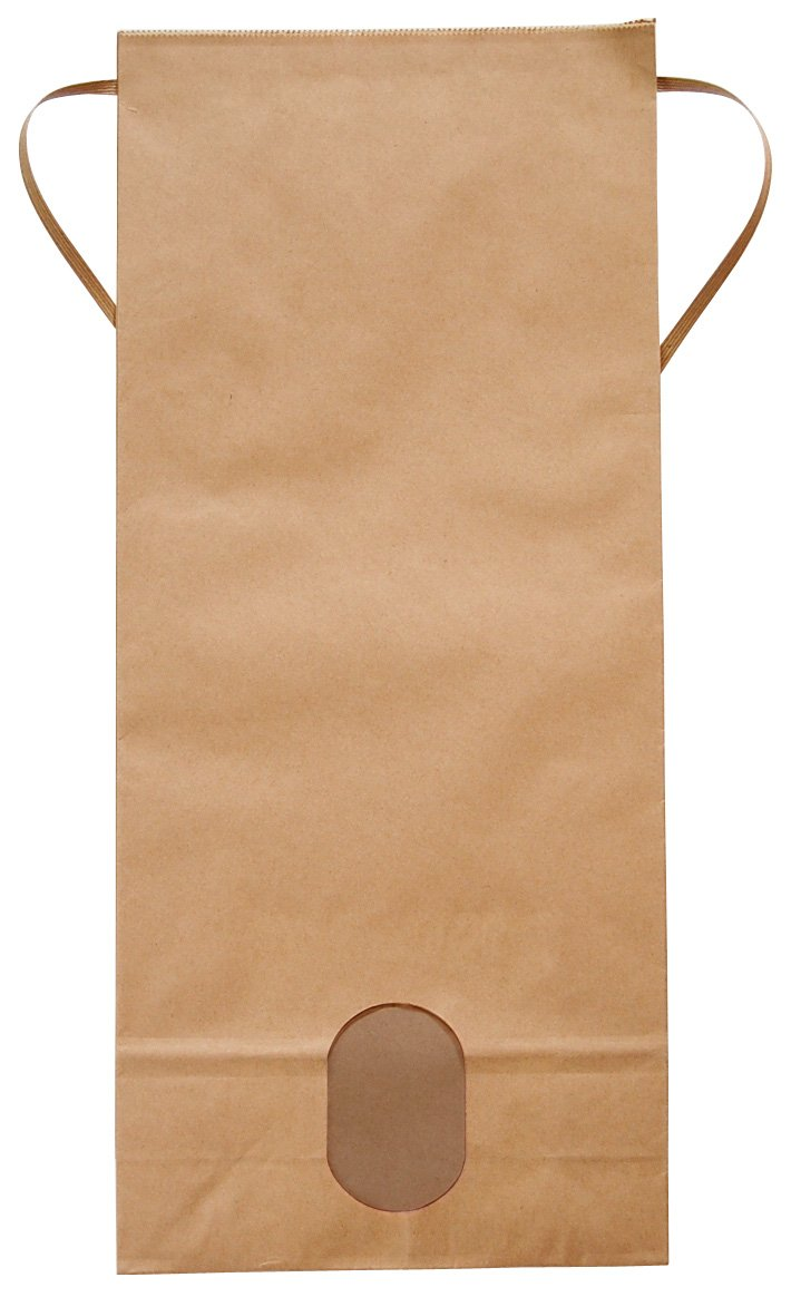 マルタカ クラフト 無地 窓付 角底 5kg用紐付米袋 1ケース(300枚入) KH-0801 B077GKL133 5kg用米袋|1ケース(300枚入) 1ケース(300枚入) 5kg用米袋