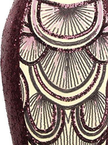 Les Paillettes Sweetheart Des Femmes Ange-façonne Des Lacer Robes Soirée Vin Rouge