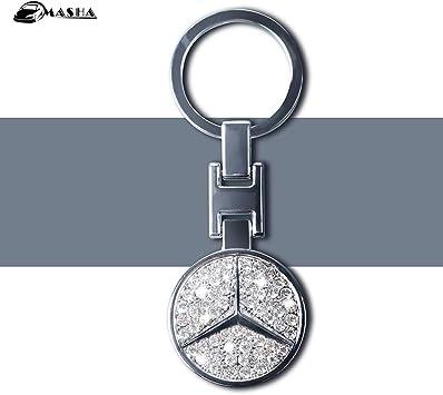 Auto Car Logo Metal Key Chains Pendant Holder Keyring Keychain for Mercedes Benz