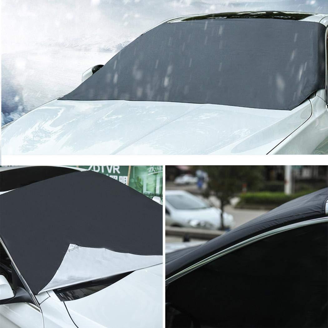 pikins Protector de Pantalla Solar Antideslizante Parabrisas Delantero para autom/óvil Fundas para Coche