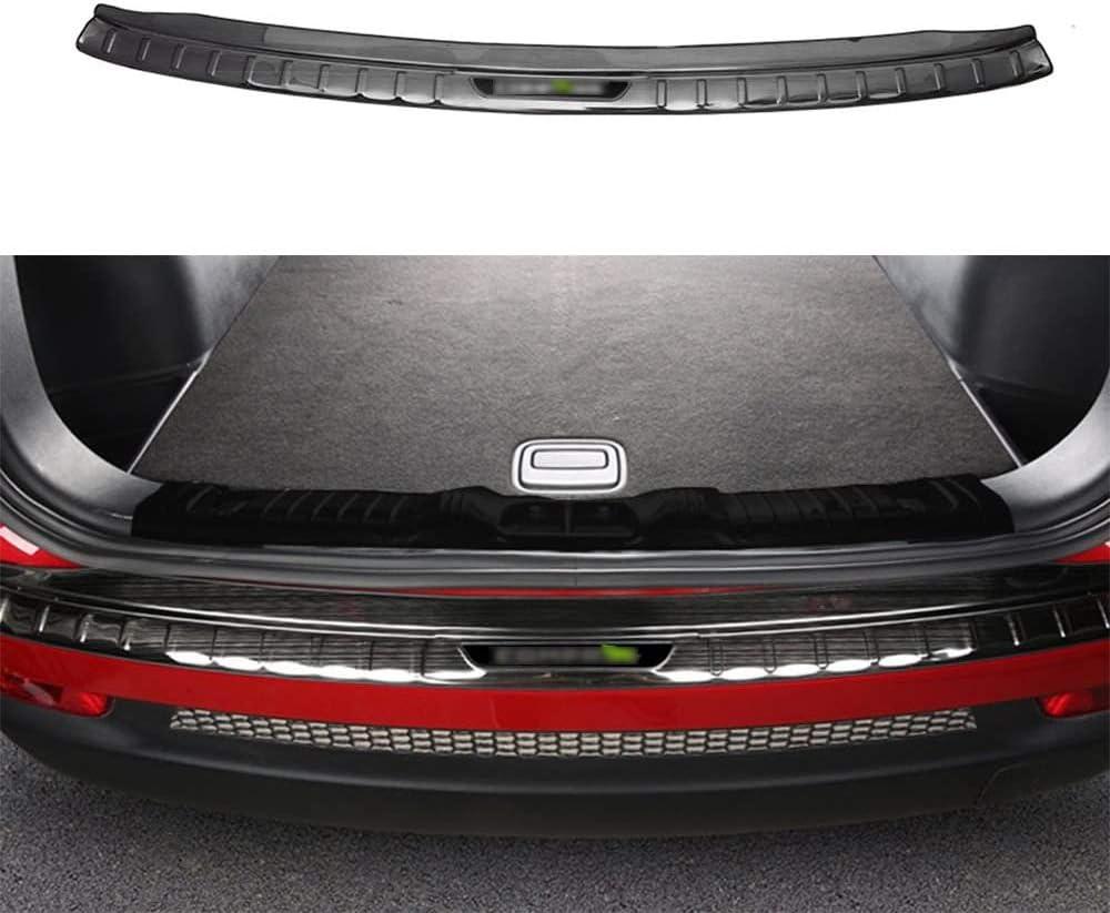 Universal 4pc Car Door Sill Sticker /& 1pc Rear Guard Bumper Protector Trim Cover