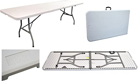 Harbour Housewares Folding, Events, Trestle Table   8 Ft Long. Foldable.  Easy