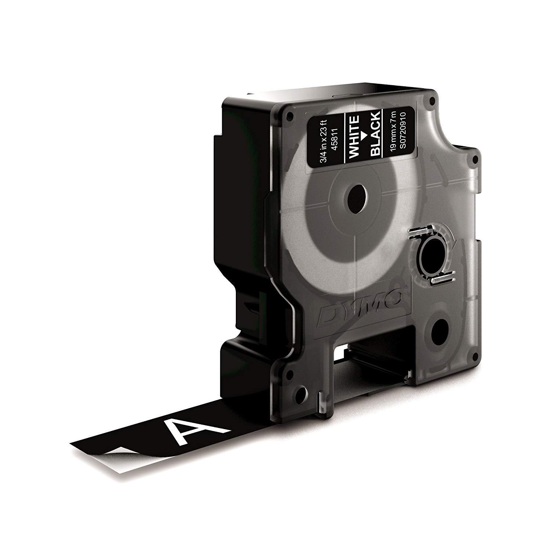 authentique pour /étiqueteuses LabelManager DYMO D1 /étiquettes autocollantes 19/mm/x/7/m impression en noir sur fond blanc