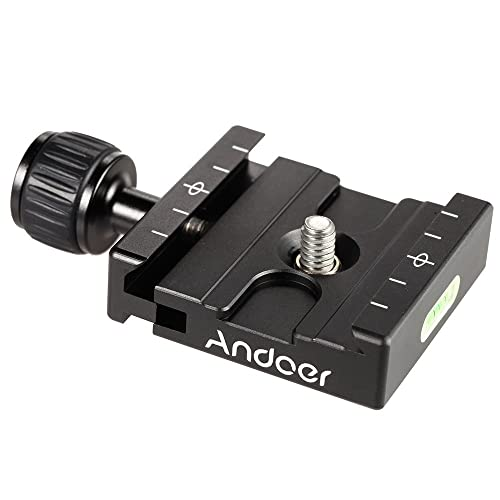Andoer® Adapter Plate Square Clamp with Gradienter for Quick Release Plate Tripod Ball Head Arca Swiss RRS Wimberley