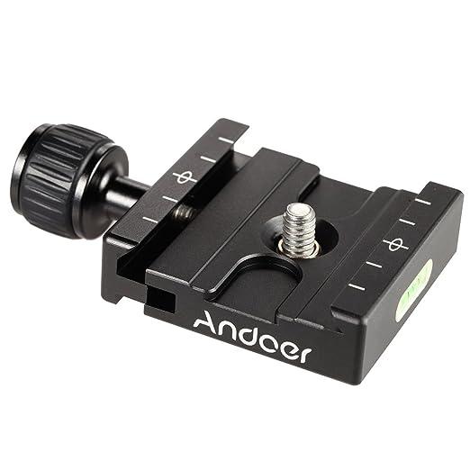 19 opinioni per Andoer Adapter Piatto quadrato Pinza con torica per piastra a sgancio rapido per