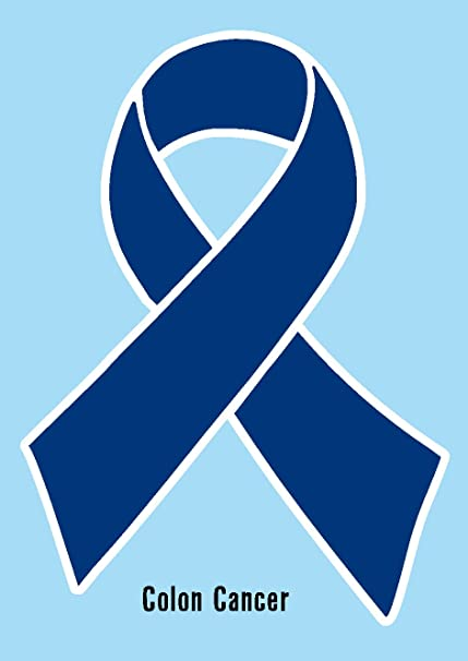 Amazon Colon Cancer Ribbon Blue Dark Blue Printed Vinyl