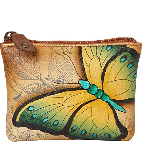 Price comparison product image Anuschka Women's Handpainted Leather Pouch Coin Purse,  Earth Song,  One Size