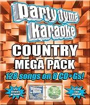 Party Tyme Karaoke - Country Mega Pack (128-Song Mega Pack) [8 CD]