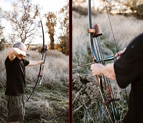 Southwest Archery Scorpion Traditional Hunting Long Bow - 68 Longbow - Right & Left Hand - Draw Weights in 25-60 lbs - USA Based Company - - 45L w/Stinger