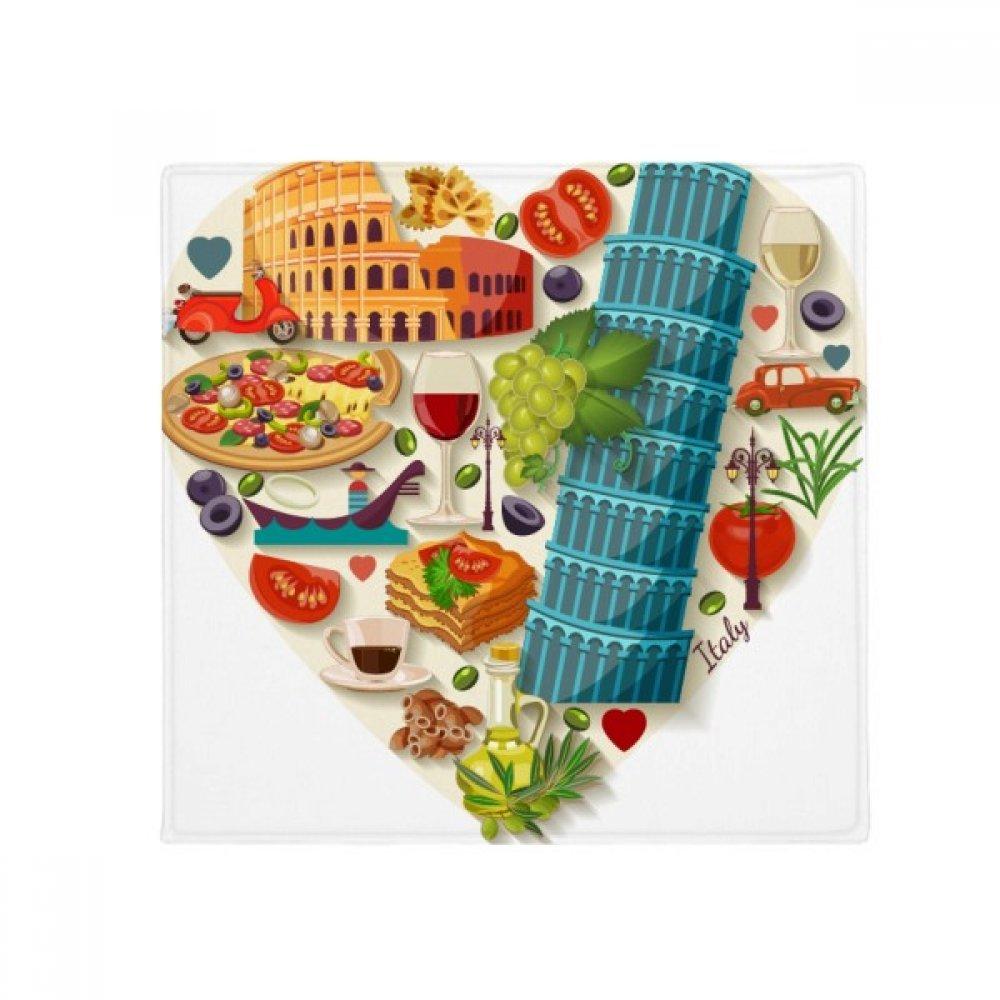 DIYthinker  Heart Roman Theater Anti-Slip Floor Pet Mat Square Home Kitchen Door 80Cm Gift