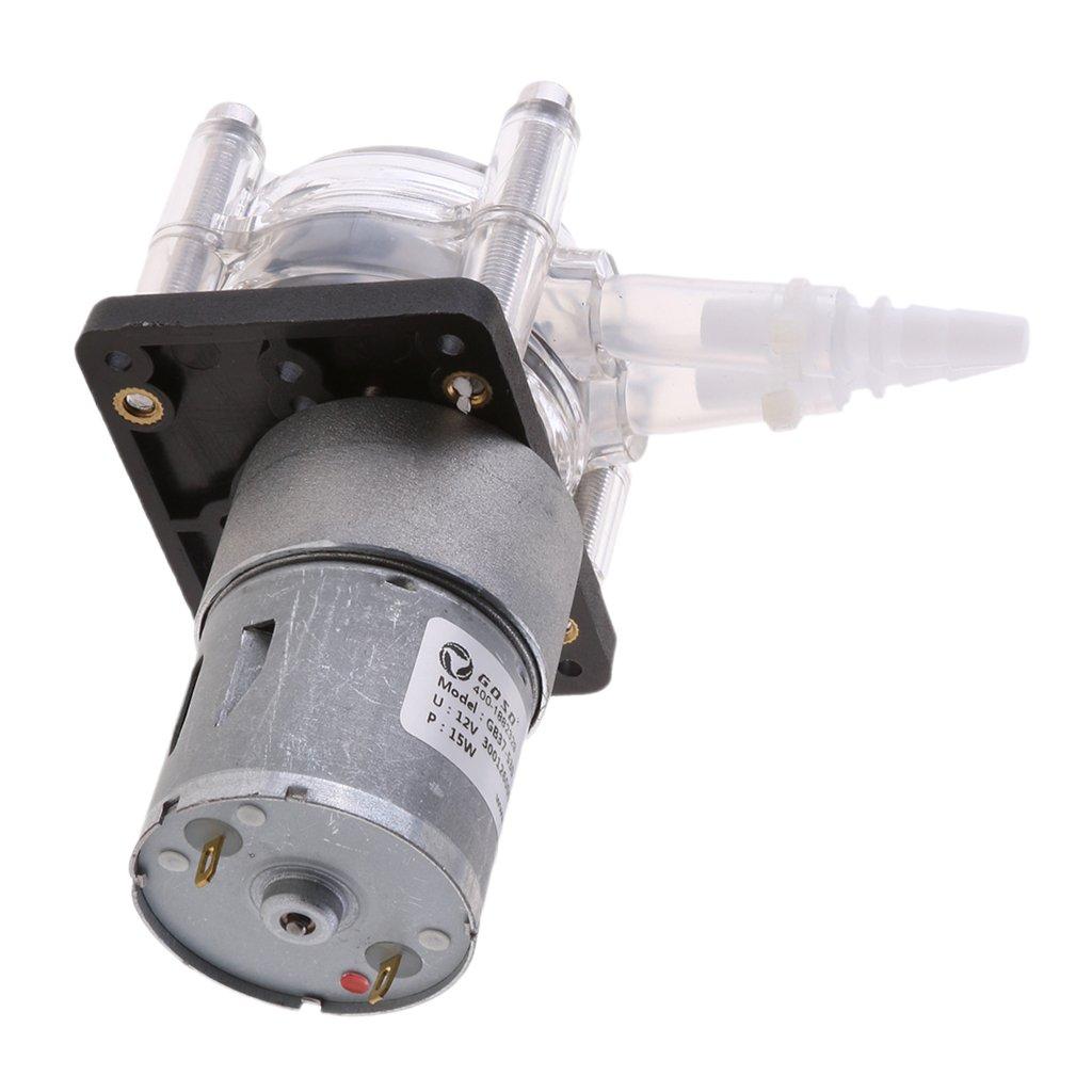 12V DC Gazechimp Pompa Dosatrice da 4 Pezzi - Pompa Peristaltica//Pompe per Tubi Flessibili Testa di Dosaggio per Progetti Analitici di Acquari da Laborato
