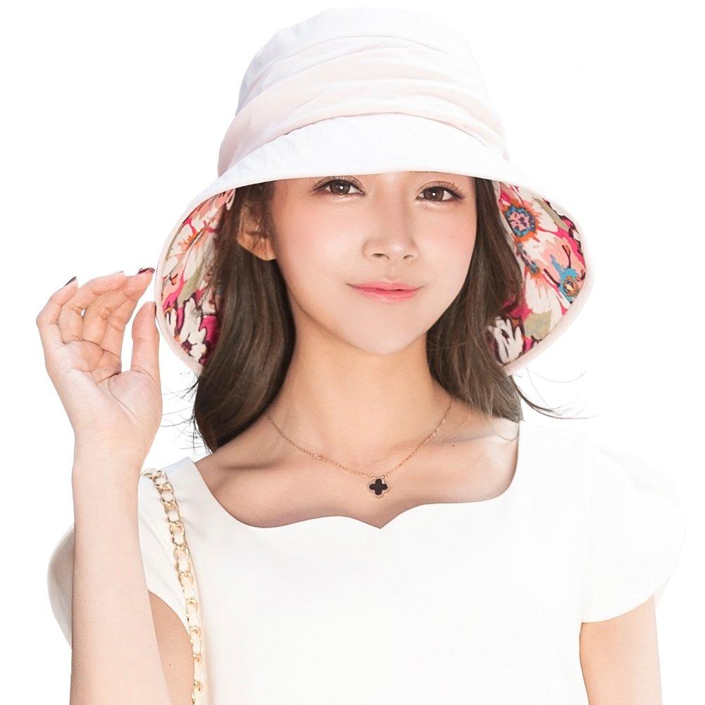 Siggi Womens Bucket Boonie Sun Hat Summer Cap Packable Wide Brim UV SPF 50 CM16019-2