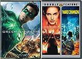 V for Vendetta & The Watchmen + Green Lantern Comic Book Movie 3-Pack Hero Bundle