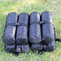 AbcCanopy 17-Inch Weight Bags for Instant Legs, Black, 4-Pack