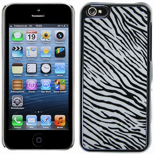 - Black White Zebra Hard Case Cover For Apple iPhone 5C with Free Pouch