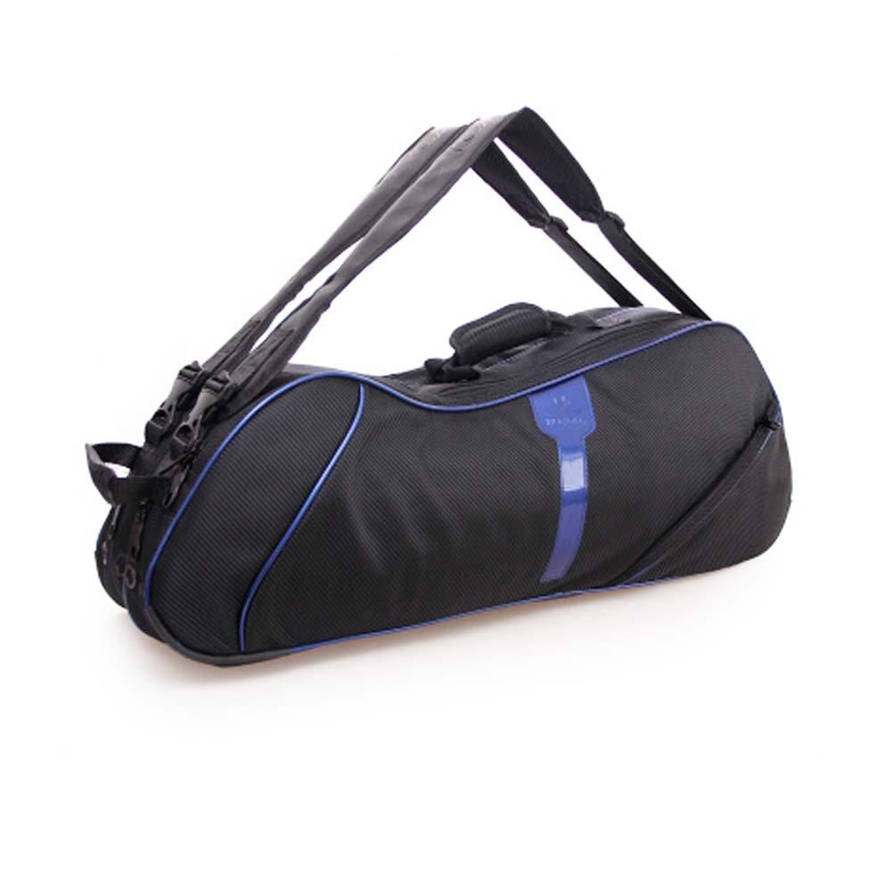 2肩ストラップ防水、防塵ラケットバッグ6ラケットバッグ、ブルー B06XSXJWF1