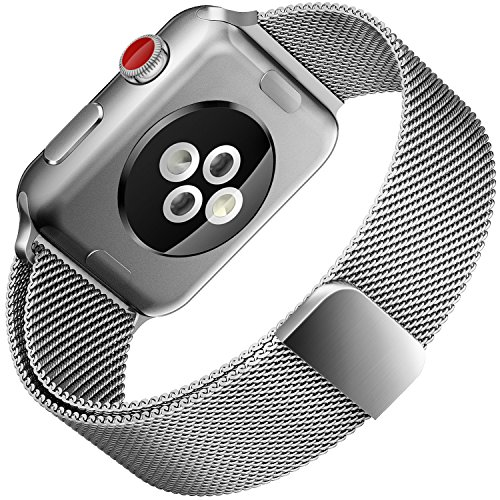 For Apple Watch Band 38mm Milanese Loop Metal Strap for iWatch Bands Silver Color