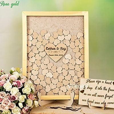 Amazon.com: Libro de invitados de boda, oro rústico, ideas ...