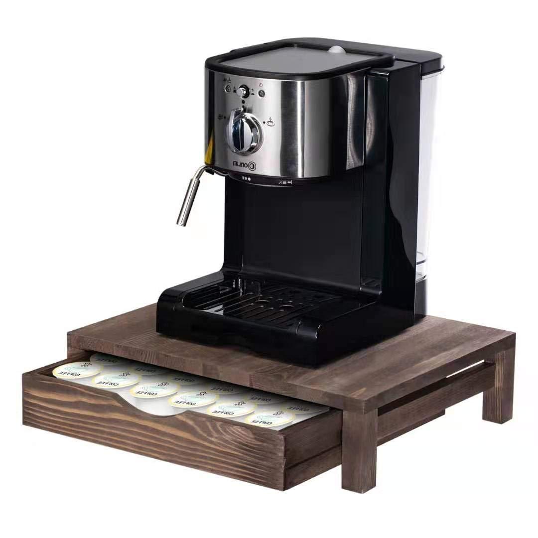 NEX Rustic Wood K-Cup Coffee Pods Holder Storage Drawer - 36 Pods Capacity by NEX
