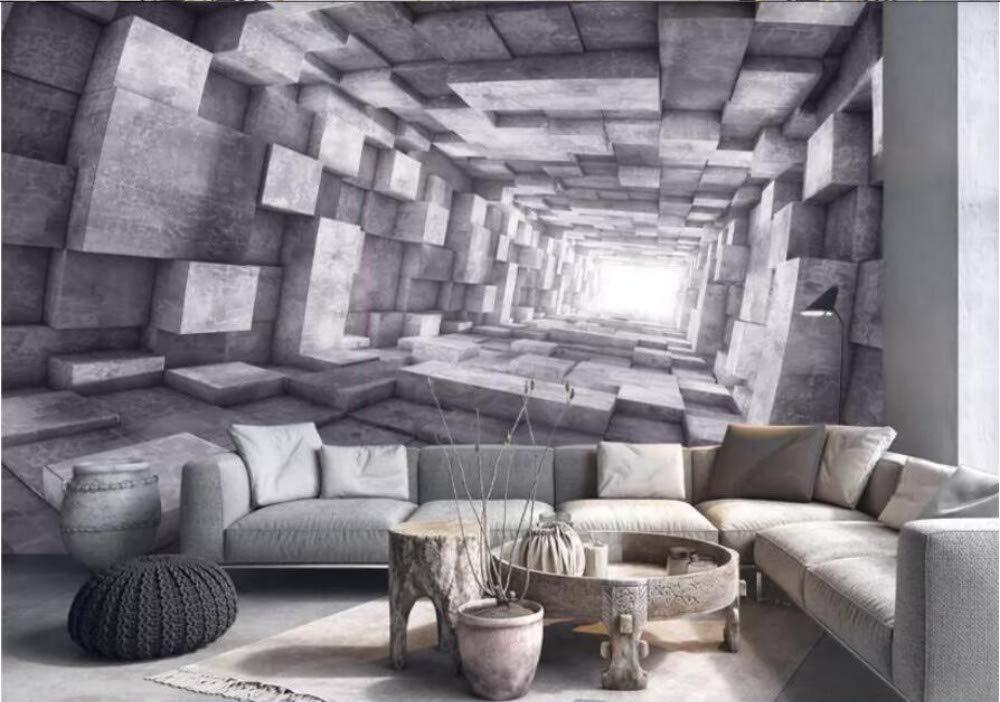 400Cmx280Cm Papier Peint 3D Rouleau De Papier Peint Mural Papier Peint Tunnel Espace /Étendu Outillage Vent Photo Papier Peint