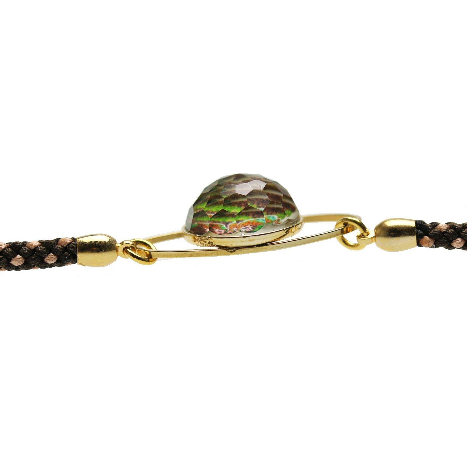 Tamarusan Braided Eyeglass Cord Eyeglasses Chain Handmade Pansy Gold