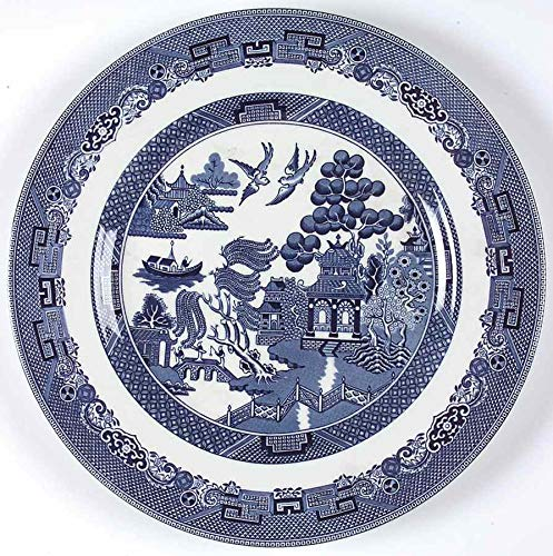 """Johnson Brothers Willow Blue 11"""" Dinner Plates - Set of 6"""