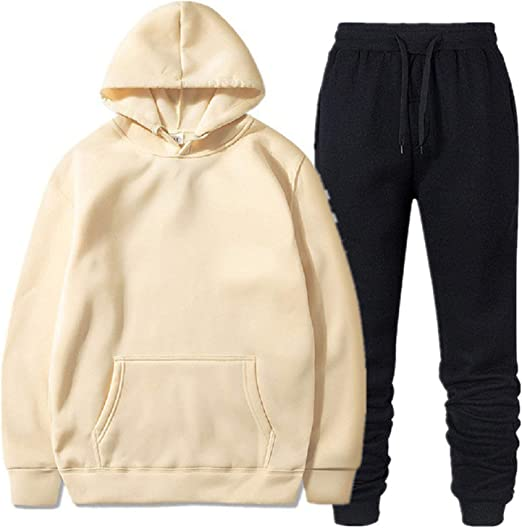 Mens Tracksuits Set Hoodie Bottoms Joggers Pants Jogging Sweatershirt Pullover