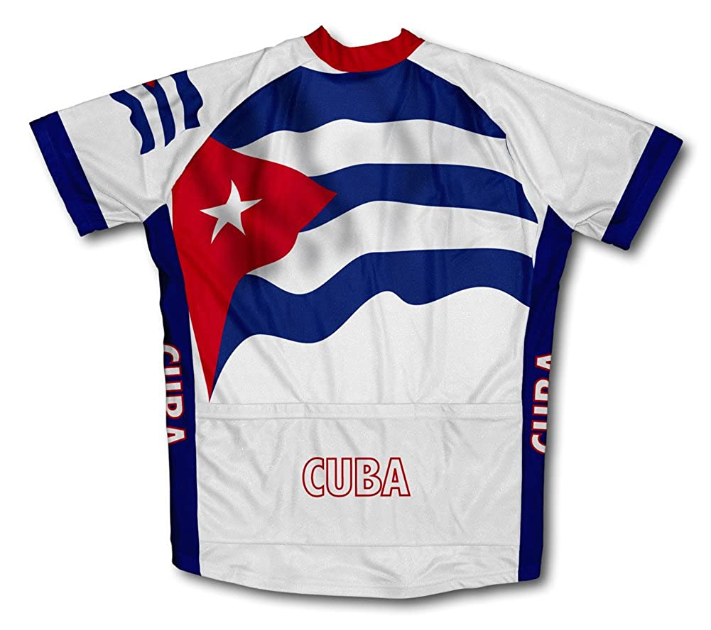 ScudoPro Cuba Flag Short Sleeve Cycling Jersey for Men