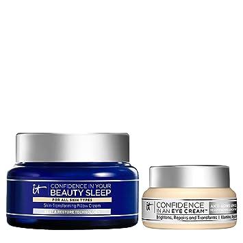 IT Cosmetics Beauty Sleep Set - Includes Confidence in Your Beauty Sleep (2 oz) & Confidence in an Eye Cream (0.5 oz)