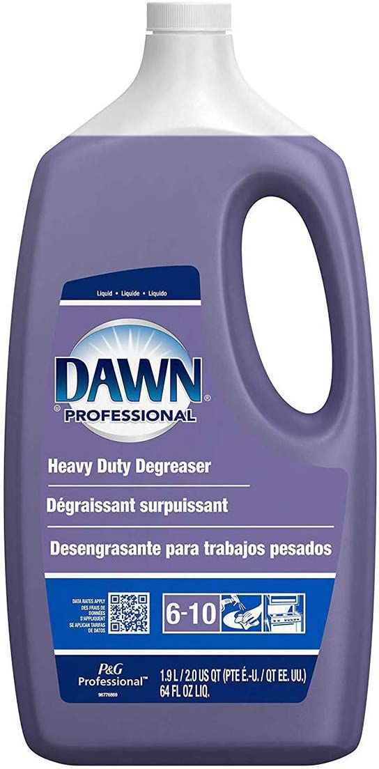 P&G Professional Heavy Duty Degreaser by Dawn Professional, Bulk Liquid Degreaser Refill for Commercial Restaurant Kitchens and Bathrooms, 64 oz. (Case of 5) - 10037000048531