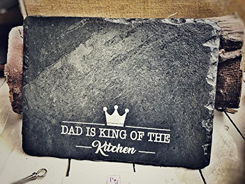 Fathers Dayスレートギフト| Chopping Board、Serving Platter | 30 x 22 cm British Madeスレートボード| The Perfect Manly Dad Gift   B07CL3FKTK