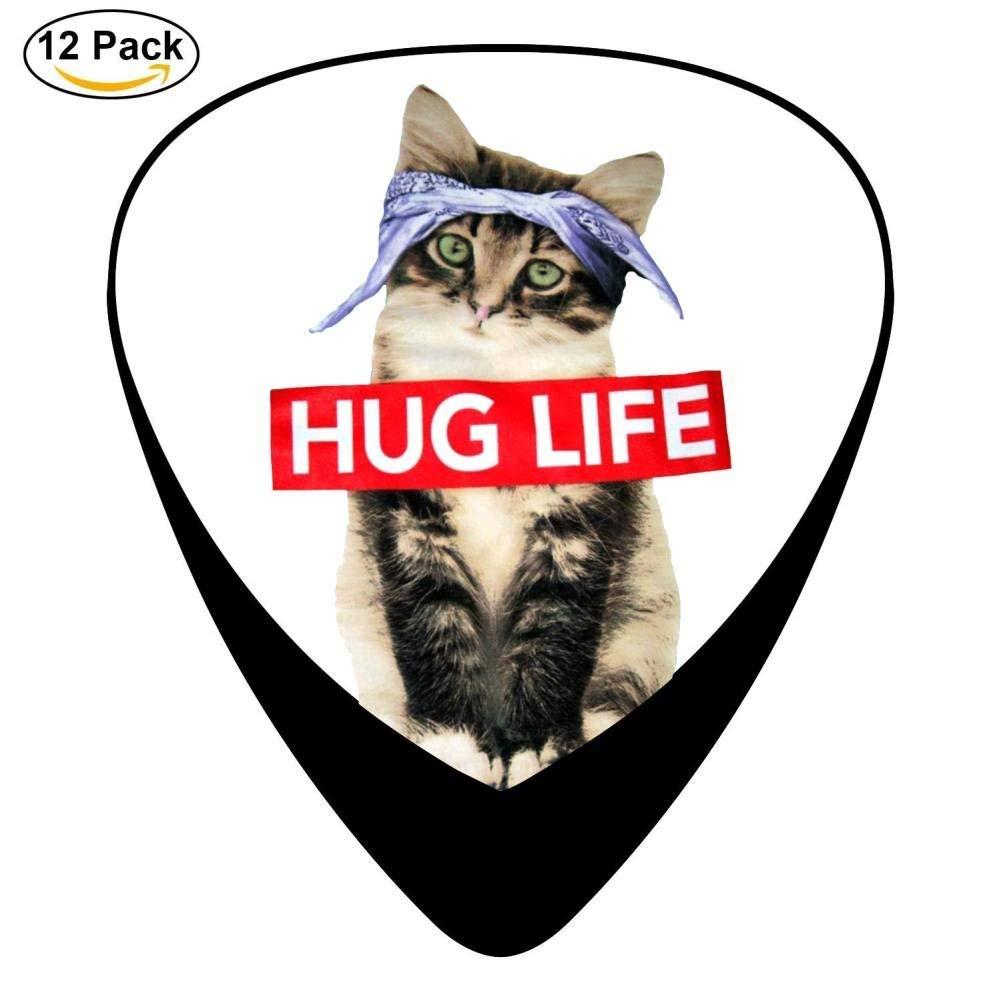 Lovely Kitty Cat Guitar Picks 12pack Celluloid Plectrum Custom Gift for Musician
