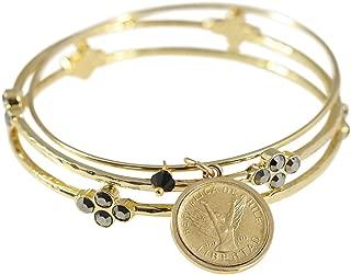 product image for Angel Coin Bangle Bracelet Set