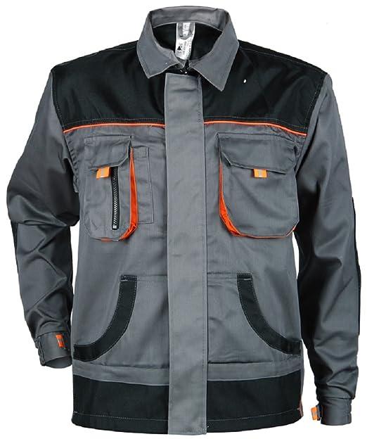 Stenso des-Emerton® - Giacca da Lavoro Multifunzione - vestibilità Slim -  Grigio Nero Arancione con Gomiti rinforzati  Amazon.it  Abbigliamento 253235bca35
