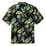 Tommy Bahama Adriatic Garden Island Zone Silk Blend Camp Shirt (Color: Coal, Size L)