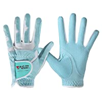 PGM Women's Golf Glove One Pair (4 Color Options), Improved Grip System, Cool and Comfortable