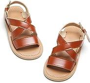 Felix & Flora Toddler Girl White Gold Sandals - Little Kids Easter Dress Shoes Size 6-12 for Summer Party Wedding School Fla
