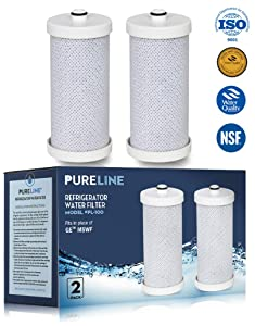 Frigidaire NGRG2000, WF1CB, Compatible Refrigerator Replacement Water Filter, Also Compatible With RF100, RG100, RF-100, RG-100, NGRG-2000 and Kenmore 9910, 469910, 46-9910 By Pure Line (2-Pack)