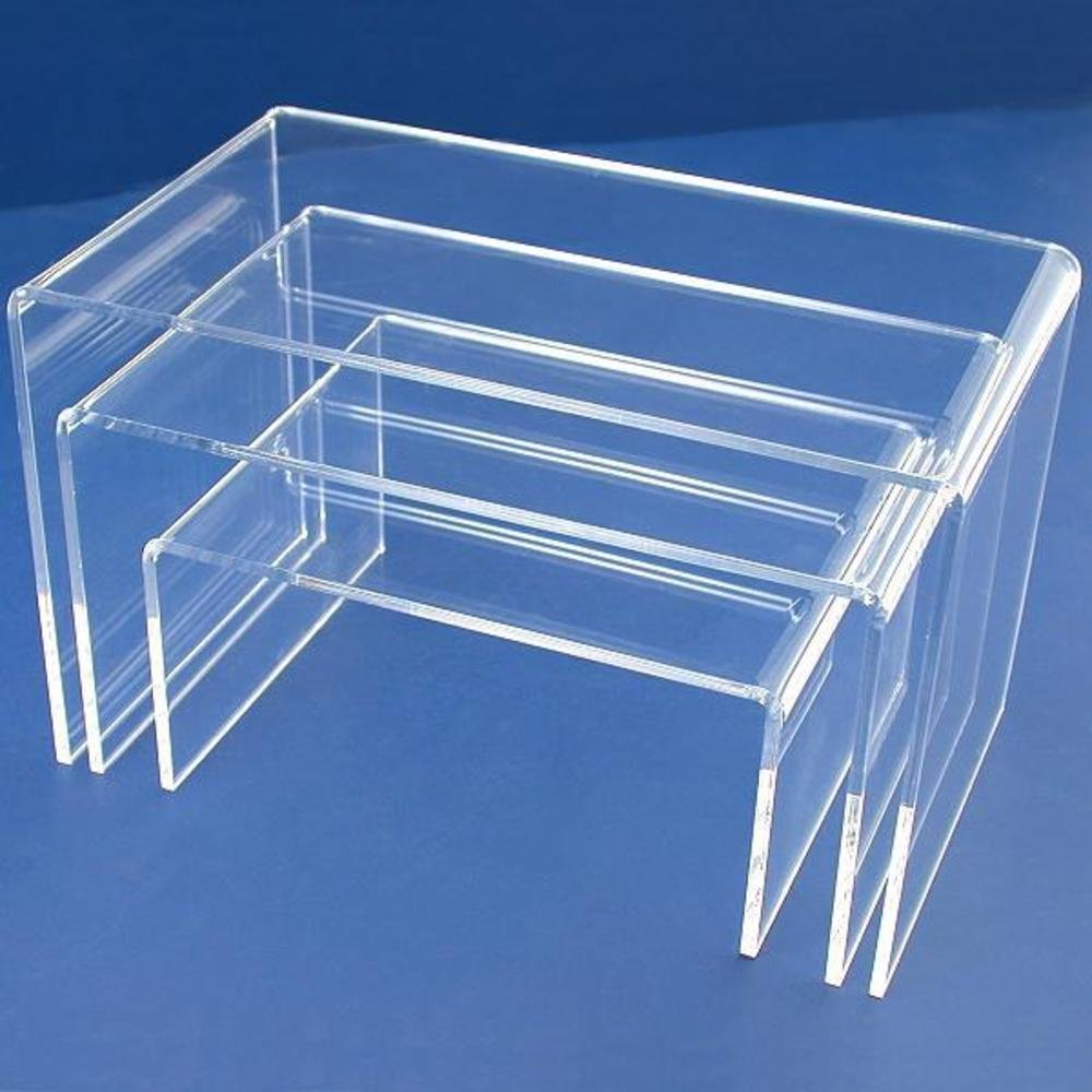 FindingKing 11 Acrylic Riser Jewelry Display Showcase Stands KIT-10400